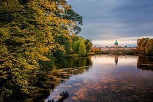 Бесплатные фото Дворец Шарлоттенбург,Берлин,осень,озеро