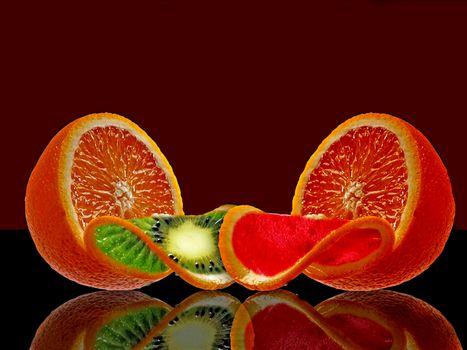 Фото бесплатно фотошоп, апельсин, фрукт