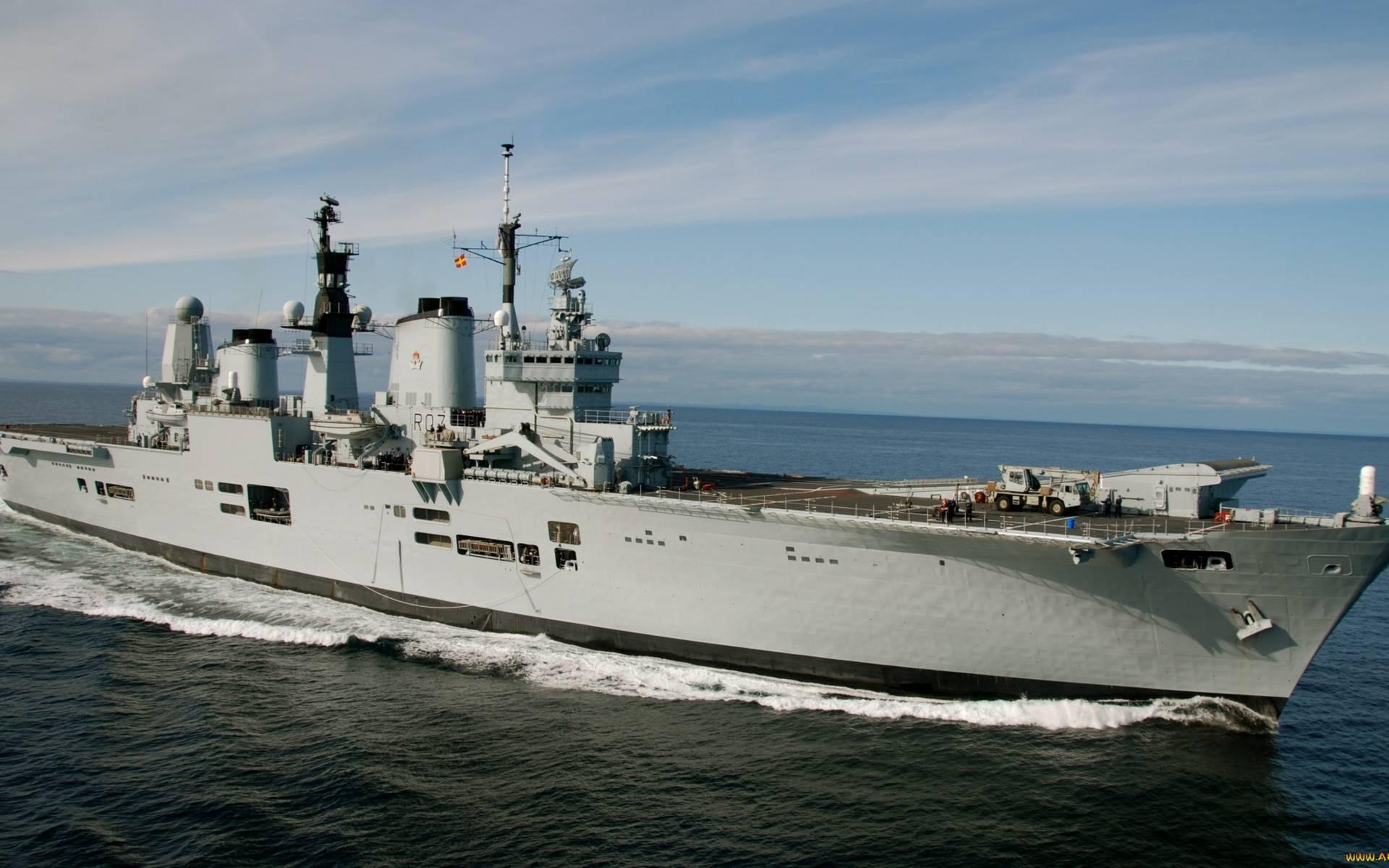 Обои корабль, палуба, надстройки, техника