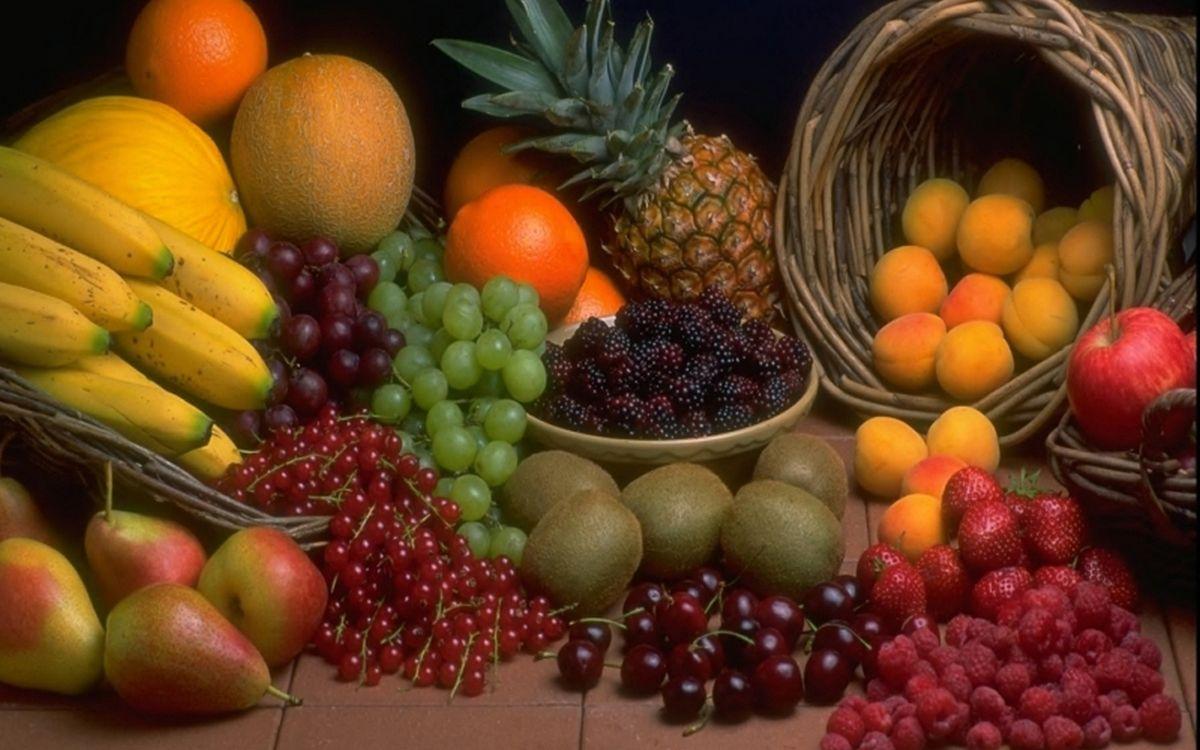 Фото бесплатно корзины, фрукты, ягода, разные, витамины, вкусности, еда