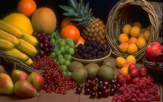 Бесплатные фото корзины,фрукты,ягода,разные,витамины,вкусности