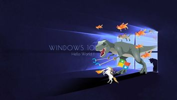 Windows 10 Hello World · бесплатное фото