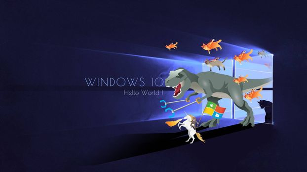 Windows 10 Hello World · free photo