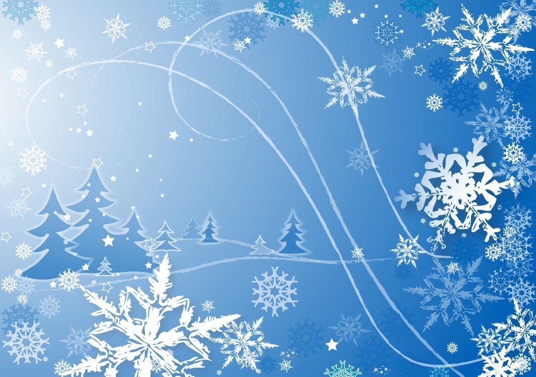 Открытки на новый год со снежинками