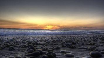 Фото бесплатно закат, Облака, берег