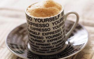 Бесплатные фото блюдце,чашка,надписи,кофе,пена