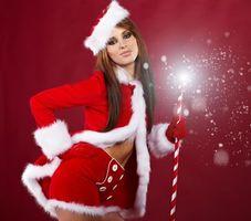 Фото бесплатно Рождество девушка, красота, девушки