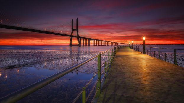 Фото бесплатно мост, Лиссабон, Португалия