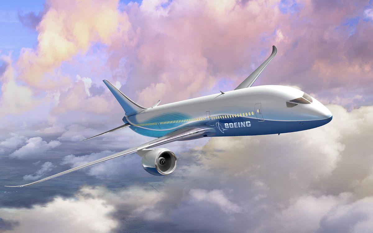 Обои самолет, пассажирский, боинг, крылья, турбины, хвост, полет, облака на телефон | картинки авиация