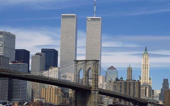Заставки Нью-Йорк, мост, дома