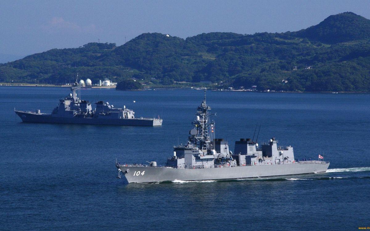 Free photo military ships, decks, armament - to desktop