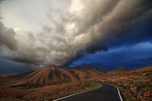 Фото бесплатно дорога, шторм, буря