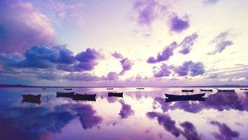 Бесплатные фото озеро,гладь,лодки,отражение,горизонт,небо,облака