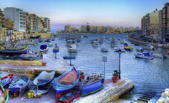 Заставки St Julian s, Malta, Spinola Bay