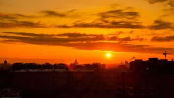 Фото бесплатно ART IRBIS PRODUCTION, Москва, Khusen Rustamov, Хусен Рустамов, xusenru, Природа, Россия, Город, рассвет, крыша, Солнце
