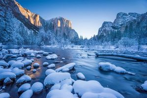 Заставки зима, США, Йосемитский национальный парк