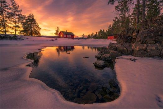 Фото бесплатно Норвегия, Скандинавия, закат
