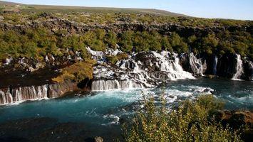 Фото бесплатно горы, камни, водопады