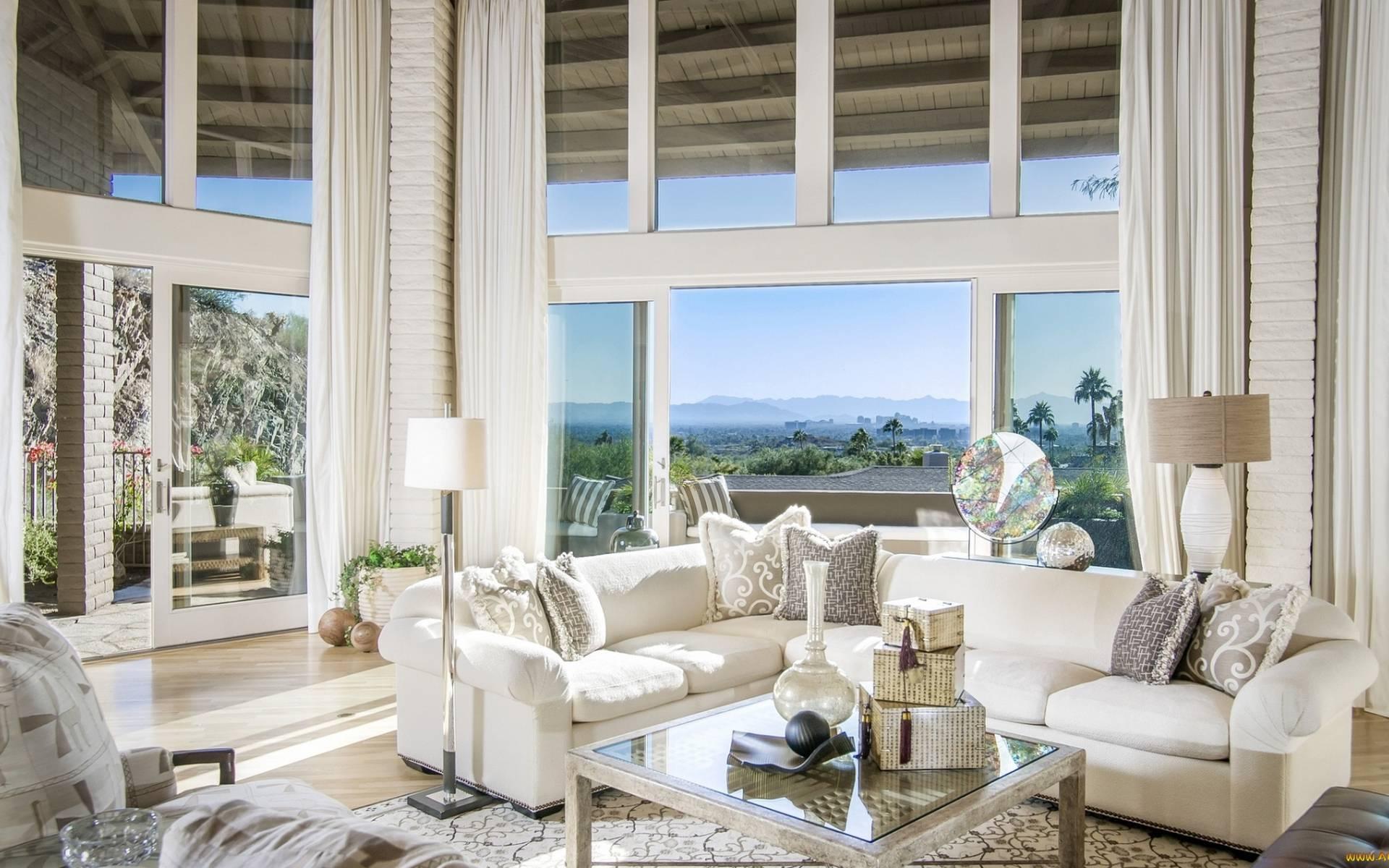 обои гостиная, мебель, диваны, подушки картинки фото