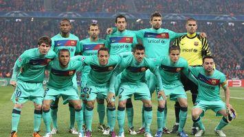 Фото бесплатно футбол, команда, барселона