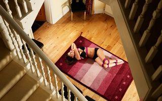 Фото бесплатно личный дом, лестница, ковер