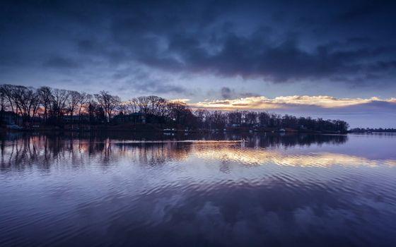 Заставки река,берег,утро,осень
