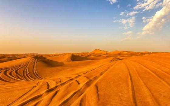 Photo free sand, traces, sky