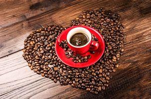 Фото бесплатно Зерна, романтическое сердце, кофе