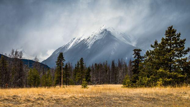 Заставки одинокая гора, туман, осень