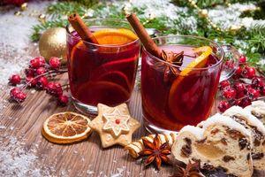 Фото бесплатно Новый год, элементы, чай с лимоном