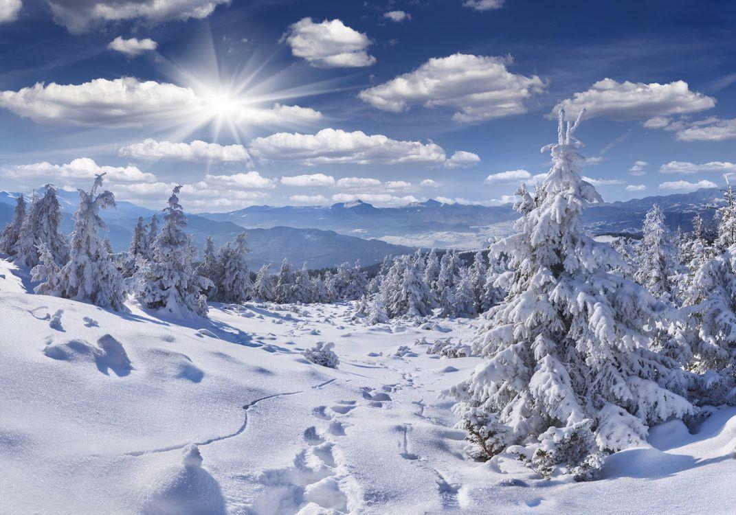 Фото бесплатно горы, пейзаж, следы - на рабочий стол