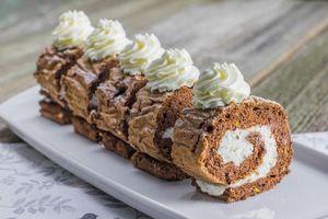 Фото бесплатно сладкое, десерт, рулет