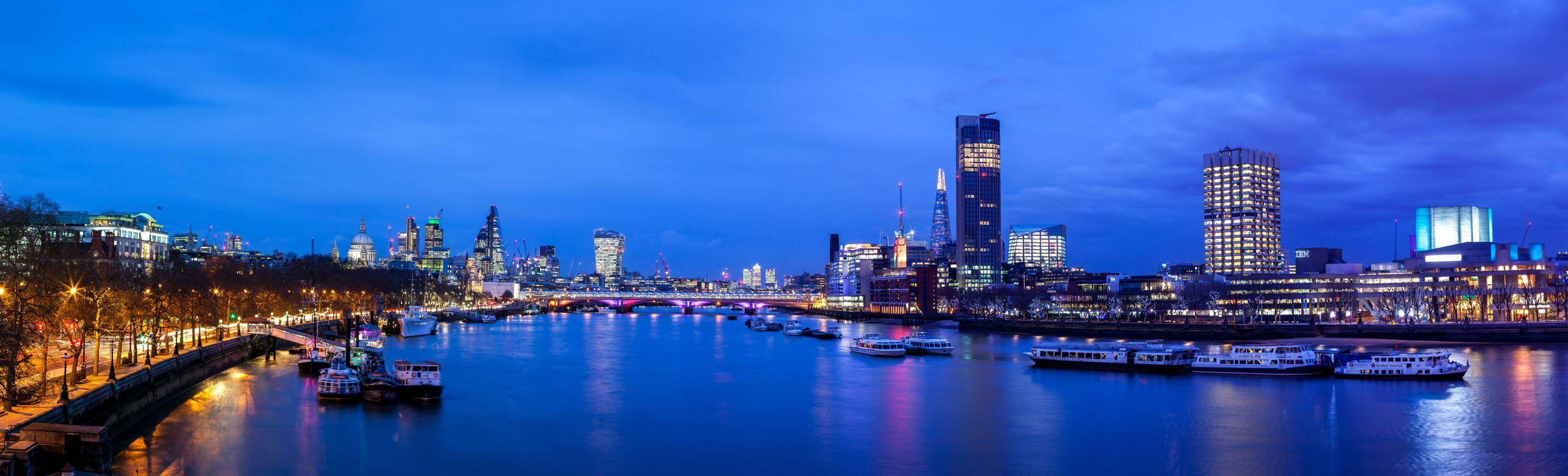 Фото Великобритания Лондон Темза река - бесплатные картинки на Fonwall
