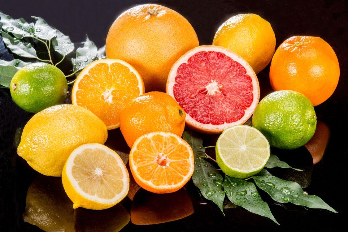 Фото бесплатно фрукты, апельсины, лимон, цитрусовые, грейпфрут, еда