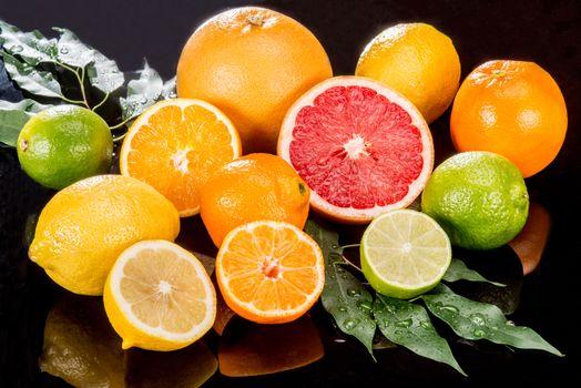Фото бесплатно фрукты, апельсины, лимон, цитрусовые, грейпфрут