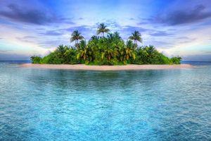 Бесплатные фото море,тропики,пляж,остров,пальмы,пейзаж