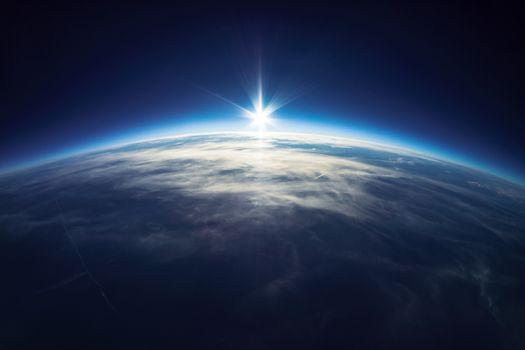 Фото бесплатно космос, восход солнца