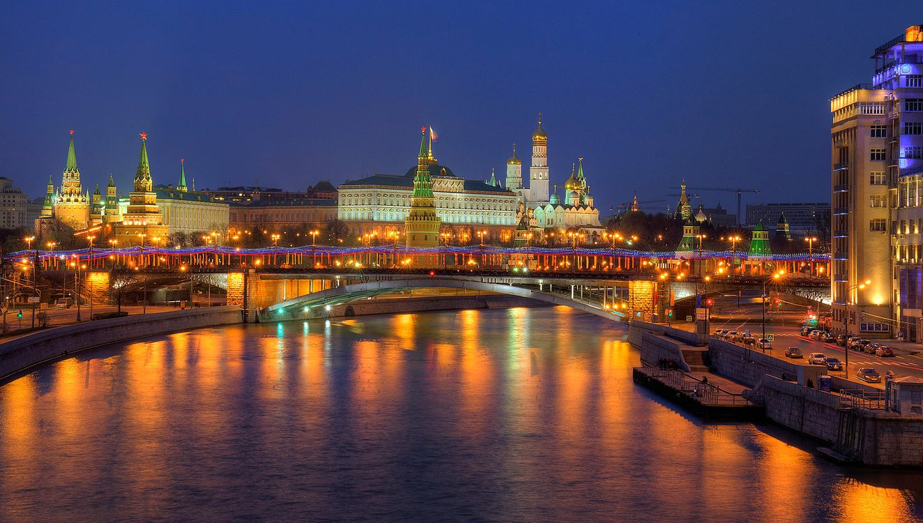 Free photo Moscow, The Kremlin, Moscow river - to desktop