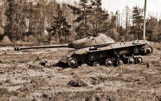 Фото бесплатно подбитый танк, башня, дуло