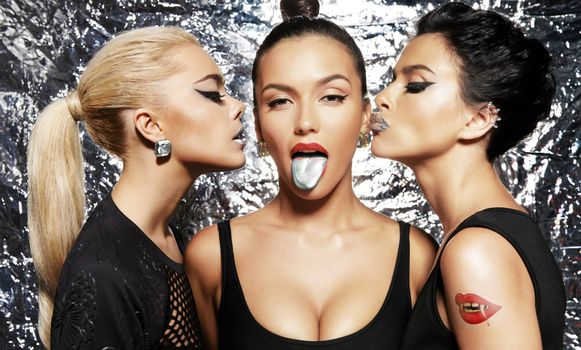 Photo free Participants of the band SEREBRO, singers, beauties