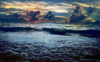 Заставки море,волны,горизонт,небо,облака