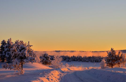 Photo free snowdrifts, road, landscapes