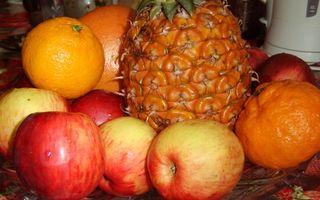Бесплатные фото фрукты,яблоки,ананас,мандарины,грейпфрут
