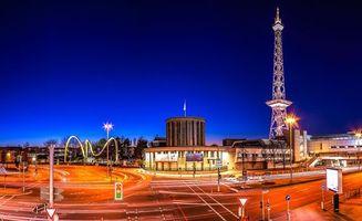 Заставки berlin, Берлин, столица, deutschland, germany, Германия, город, панорама, огни