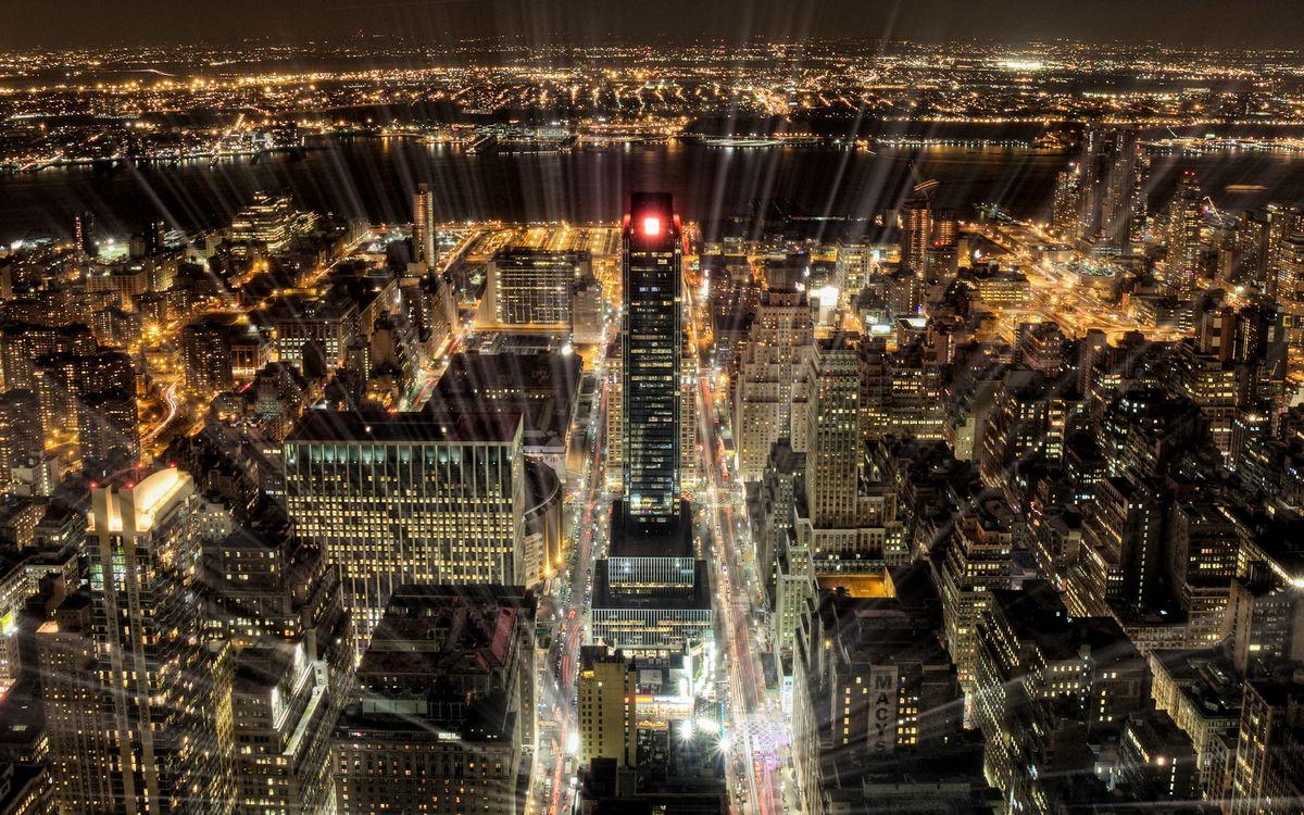 Фото бесплатно ночь, дома, крыши - на рабочий стол