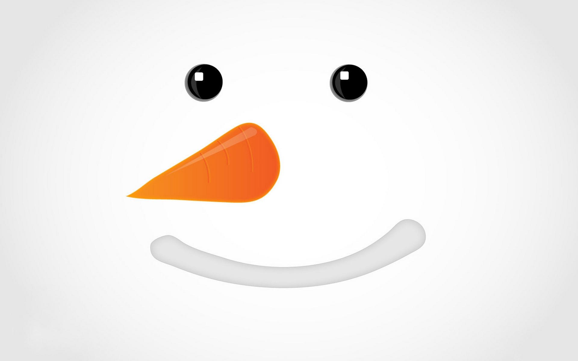снеговик, лицо, нос