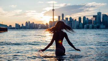 Фото бесплатно девушка, купальник, пловчиха