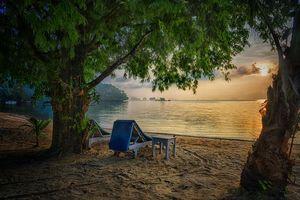 Бесплатные фото Phang Nga Bay,Thailand,Острова залива Пханг Нга,Таиланд,закат,море,берег
