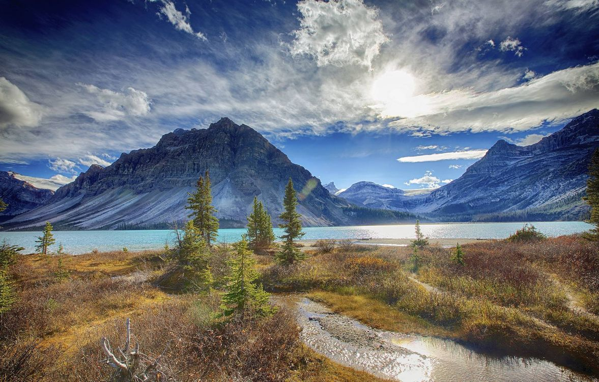 Free photo Alberta, Banff National Park, Bow Lake - to desktop