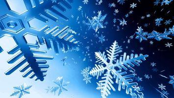 Падающие снежинки